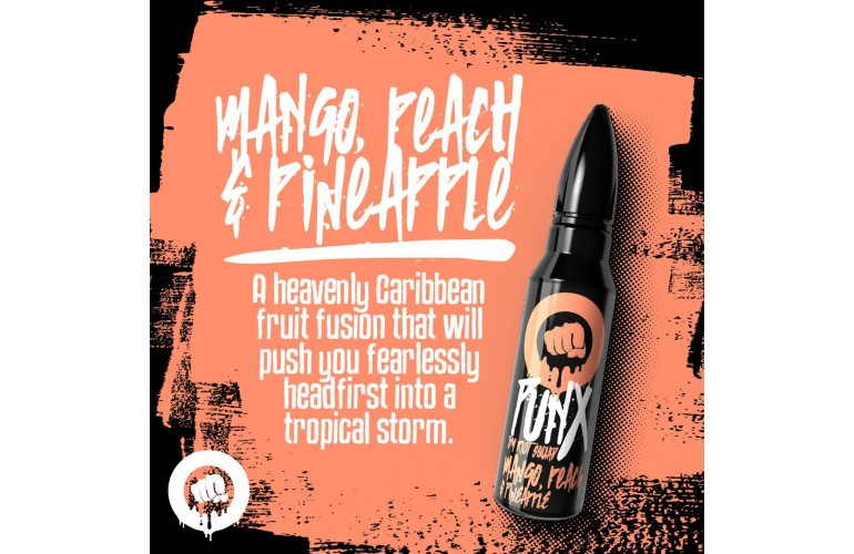 Mango Peach & Pineapple PUNX by Riot Squad 50ml Shortfill