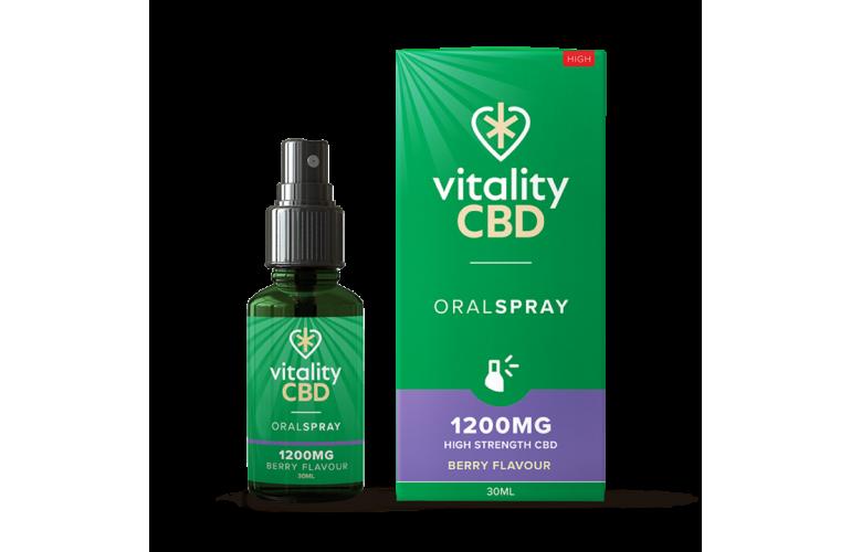 Vitality CBD Oral Spray 30ml Berry Flavour