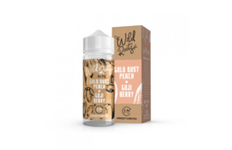 Gold Dust Peach & Goji Berry by Wild Roots 100ml Shortfill