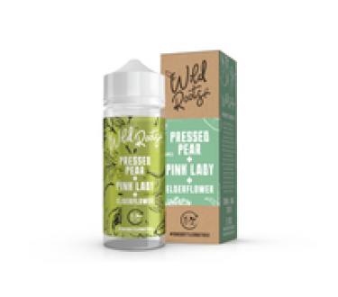 Pressed Pear & Pink Lady & Elderflower by Wild Roots 100ml Shortfill