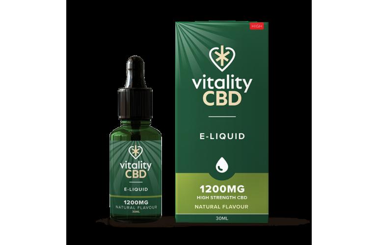 Vitality CBD E-Liquid 30ml Natural Flavour
